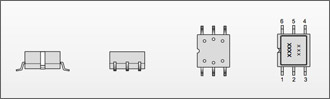 SMP31 Series Pressure Sensor Mechanical Outline Drawing SMT