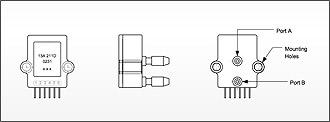 STX13 Series Pressure Sensor Mechanical Outline Drawing